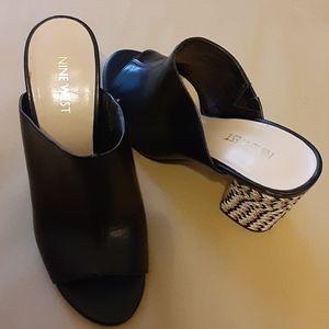 Nine West 3 inch block heeled shoe